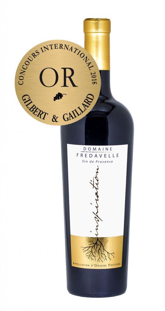 bouteille vin rouge inspiration 2014 fredavelle top coteaux d'aix en provence médaille or concours gilbert&gaillard