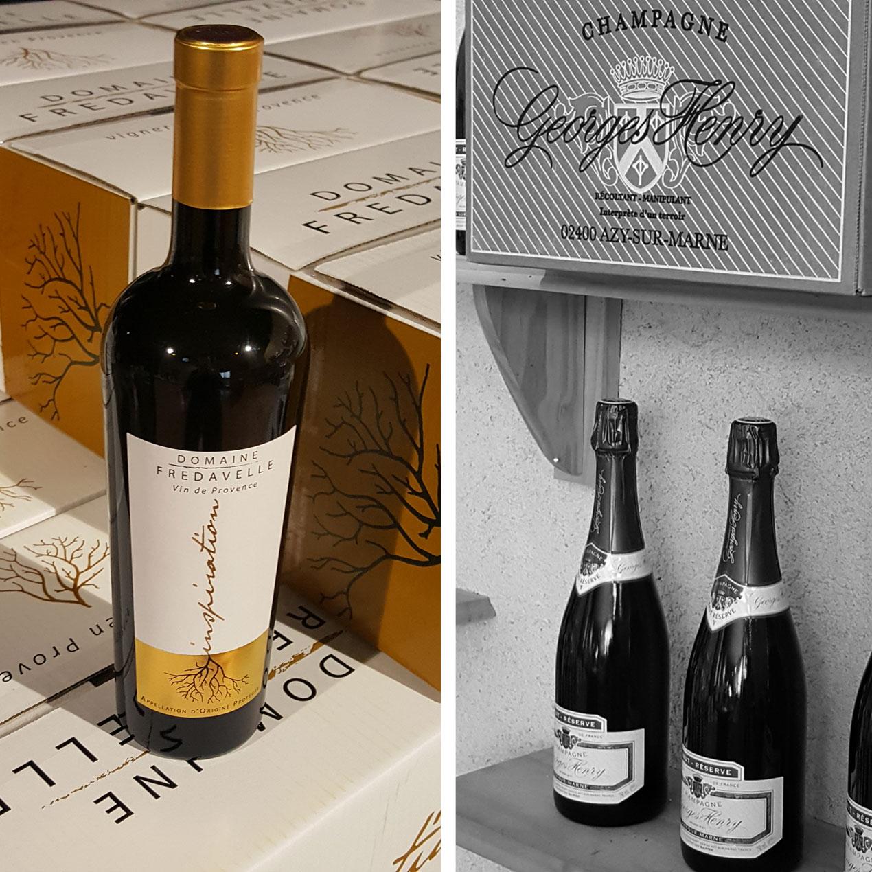 vin et champagne caveau de vente fredavelle wineshop cadeau eguilles