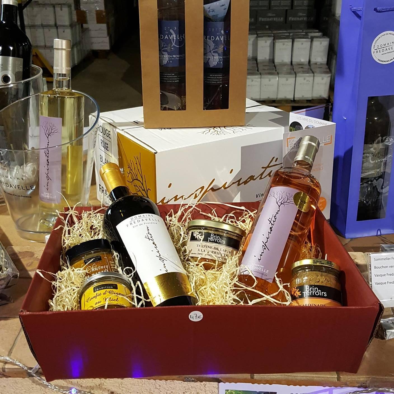 vin boutique vente fredavelle noel fetes idee cadeaux coffret vin panier garni
