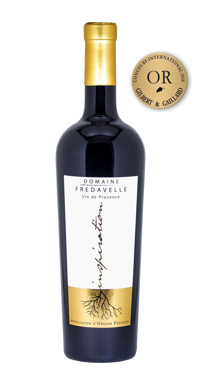 vin rouge fredavelle provence inspiration médaille or concours gilbert & gaillard degustation coteaux aix en provence
