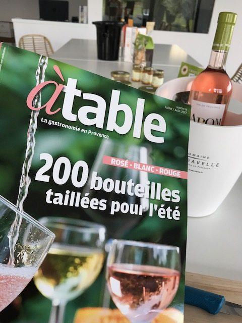 magazine a table la provence special vins d'été 2017 domaine fredavelle aromance rosé sélection vin
