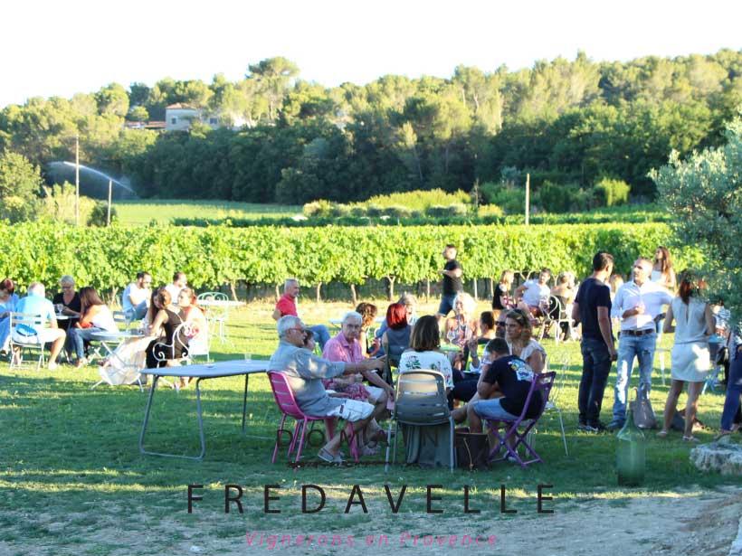 domaine fredavelle organisation événement comite entreprise séminaire soirée privatisation animation autour du vin extérieur au milieu des vignes périphérie aix eguilles calme plein air