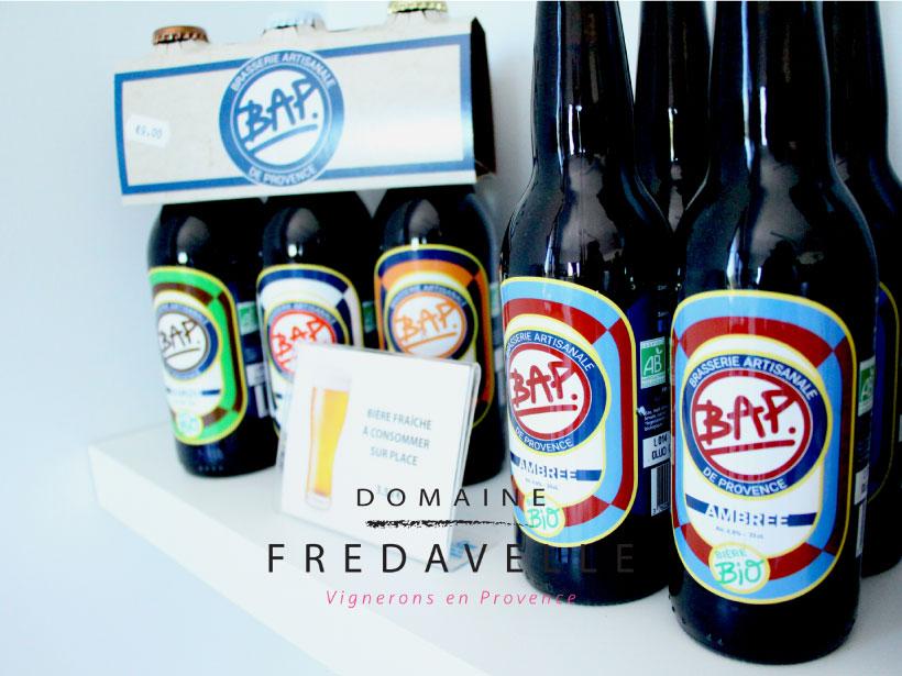 domaine fredavelle vente vins et bières artisanales brasserie produits locaux épicerie fine aix-en-provence idée originale cadeau amateur vin et bière coffret