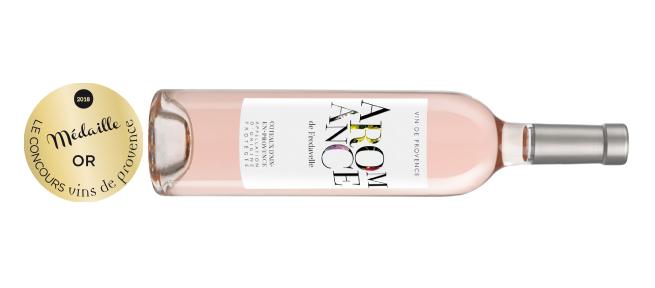 médaille or concours des vins de provence coteaux d'Aix-en-Provence rosé Aromance 2017