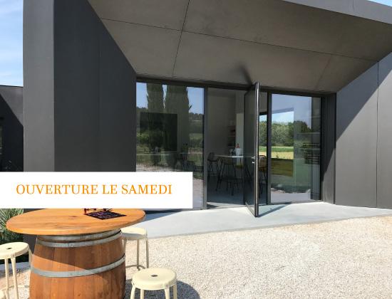 domaine fredavelle architecture boutique caveau vente vin vignoble provence ouvert samedi