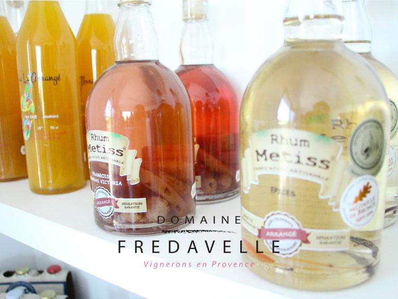 domaine fredavelle vente vins et alcool rhume épicerie fine dégustation aix-en-provence tourisme vignoble