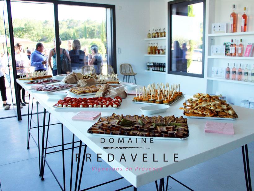 domaine fredavelle boutique espace accueil bâtiment architecture organisation événements réception traiteur intérieur extérieur vignes bordure aix-en-provence paysage campagne