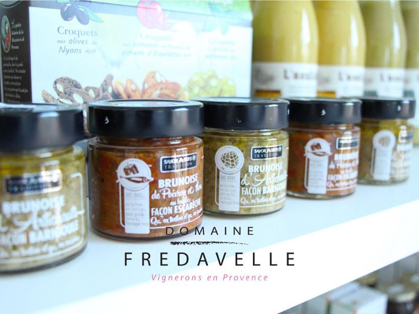 domaine fredavelle vente de vin et produits locaux spécialités provençales épicerie fine dégustation animation oenologie accord met et vins