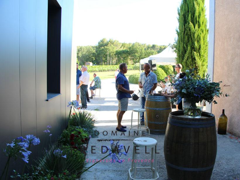 domaine fredavelle accueil groupe comite entreprise privatisation animation autour du vin oenologie cadeau fin d'année terrasse ombragée vignes provence aix pays d'aix